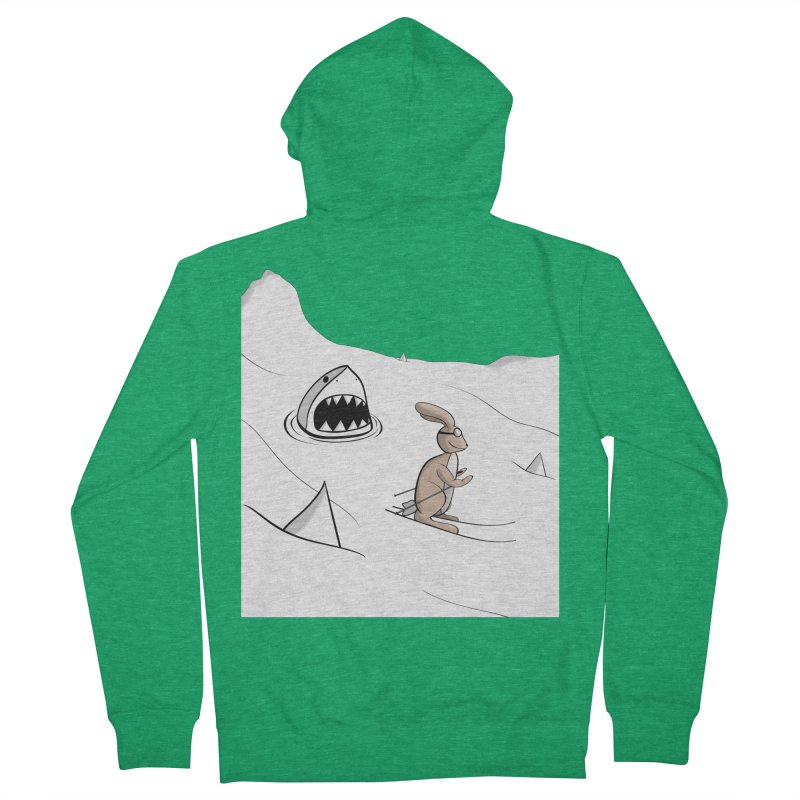 Snow Bunny Men's Zip-Up Hoody by Every Drop's An Idea's Artist Shop