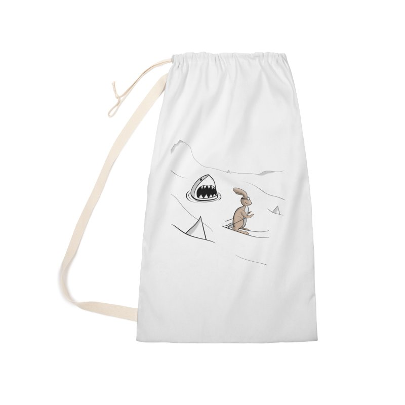 Snow Bunny Accessories Bag by Every Drop's An Idea's Artist Shop
