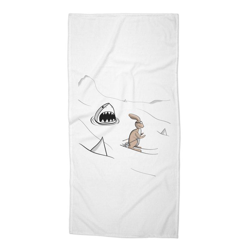 Snow Bunny Accessories Beach Towel by Every Drop's An Idea's Artist Shop
