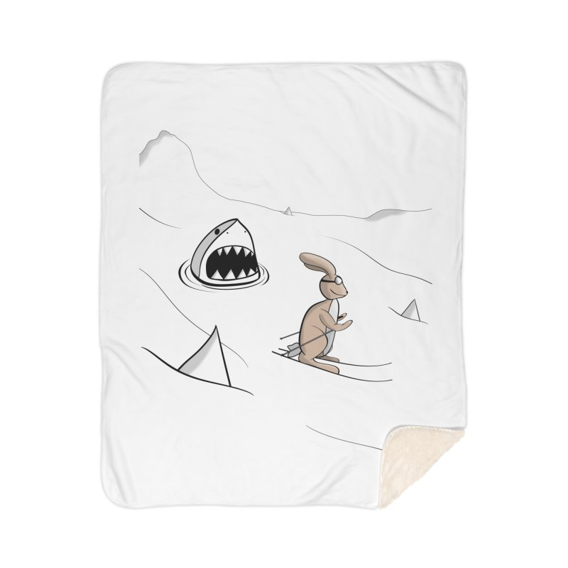 Snow Bunny Home Blanket by Every Drop's An Idea's Artist Shop