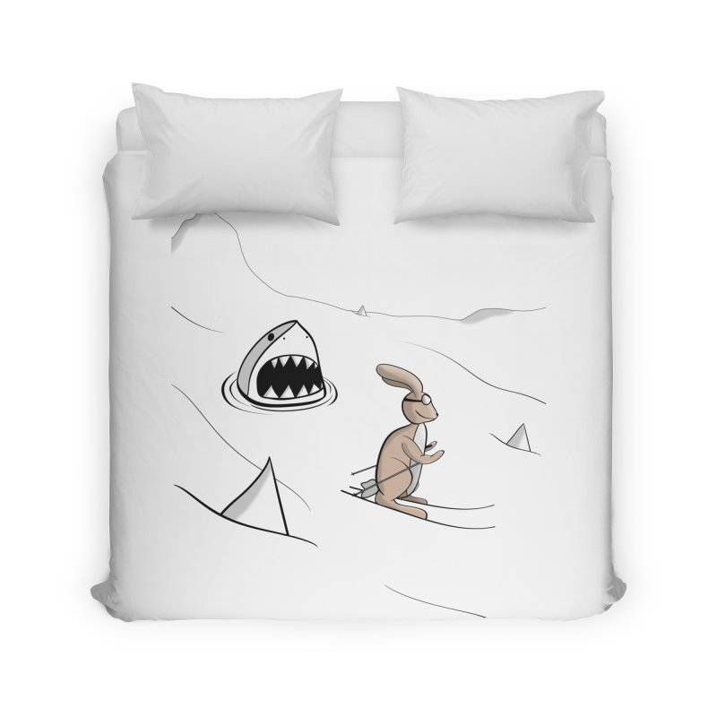 Snow Bunny Home and Office Duvet by Every Drop's An Idea's Artist Shop