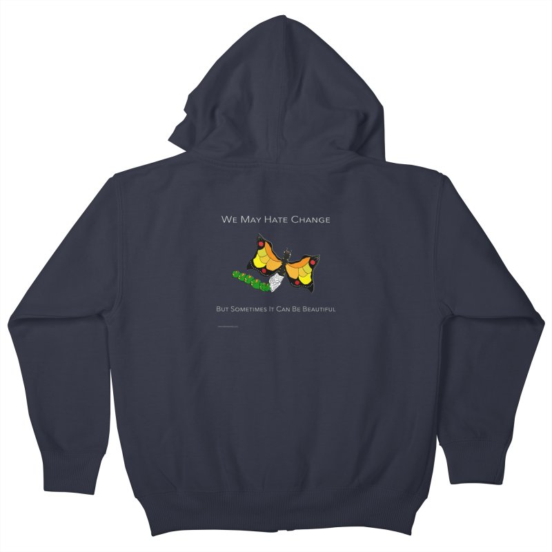 Beautiful Change Kids Zip-Up Hoody by Every Drop's An Idea's Artist Shop