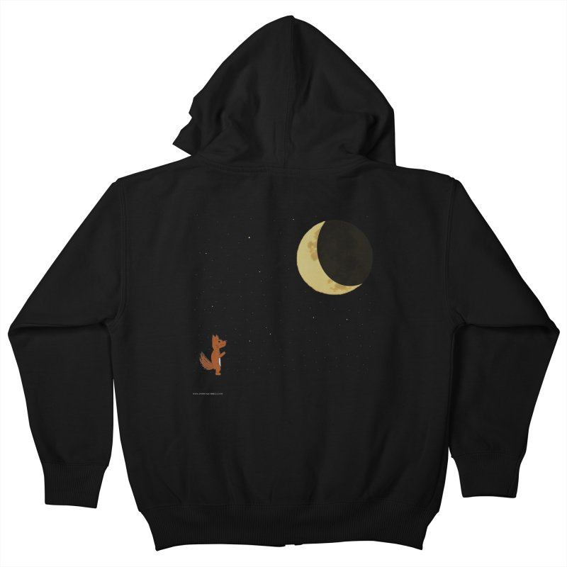 Just The Moon And I Kids Zip-Up Hoody by Every Drop's An Idea's Artist Shop