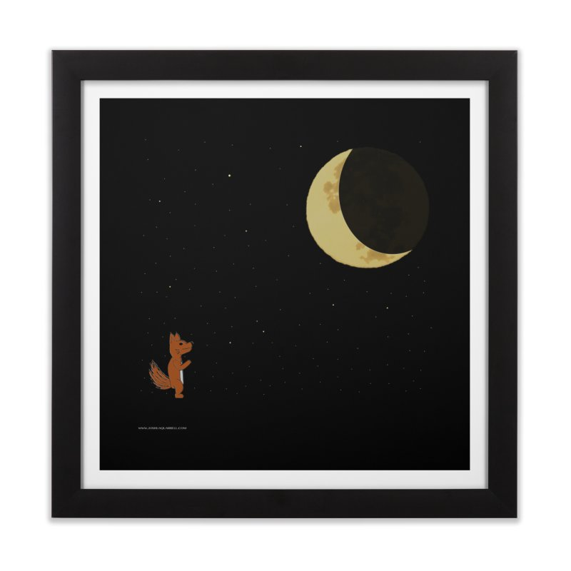 Just The Moon And I in Framed Fine Art Print Black by Every Drop's An Idea's Artist Shop