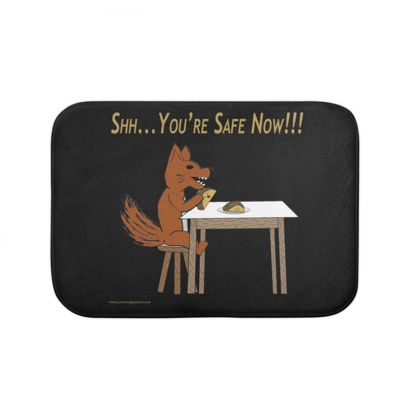 Shh... You're Safe Now!!! in Bath Mat by Every Drop's An Idea's Artist Shop
