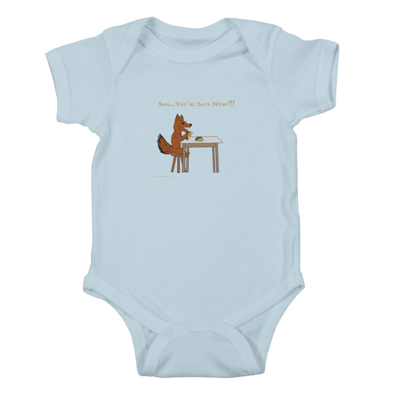 Shh... You're Safe Now!!! Kids Baby Bodysuit by Every Drop's An Idea's Artist Shop