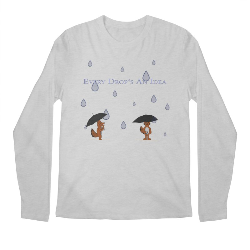 Every Drop's An Idea (Fox Edition)  Men's Longsleeve T-Shirt by Every Drop's An Idea's Artist Shop