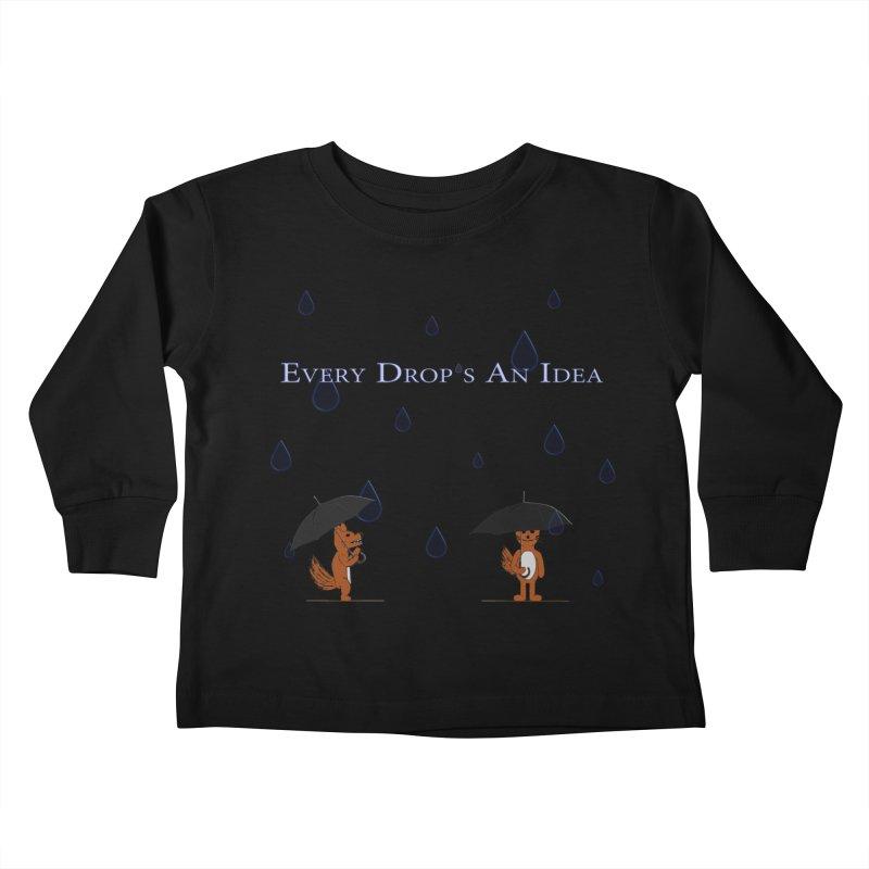 Every Drop's An Idea (Fox Edition)  Kids Toddler Longsleeve T-Shirt by Every Drop's An Idea's Artist Shop