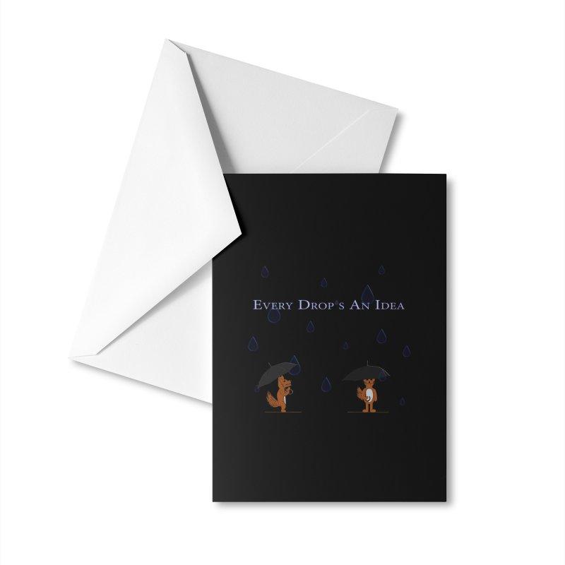 Every Drop's An Idea (Fox Edition) Accessories Greeting Card by Every Drop's An Idea's Artist Shop