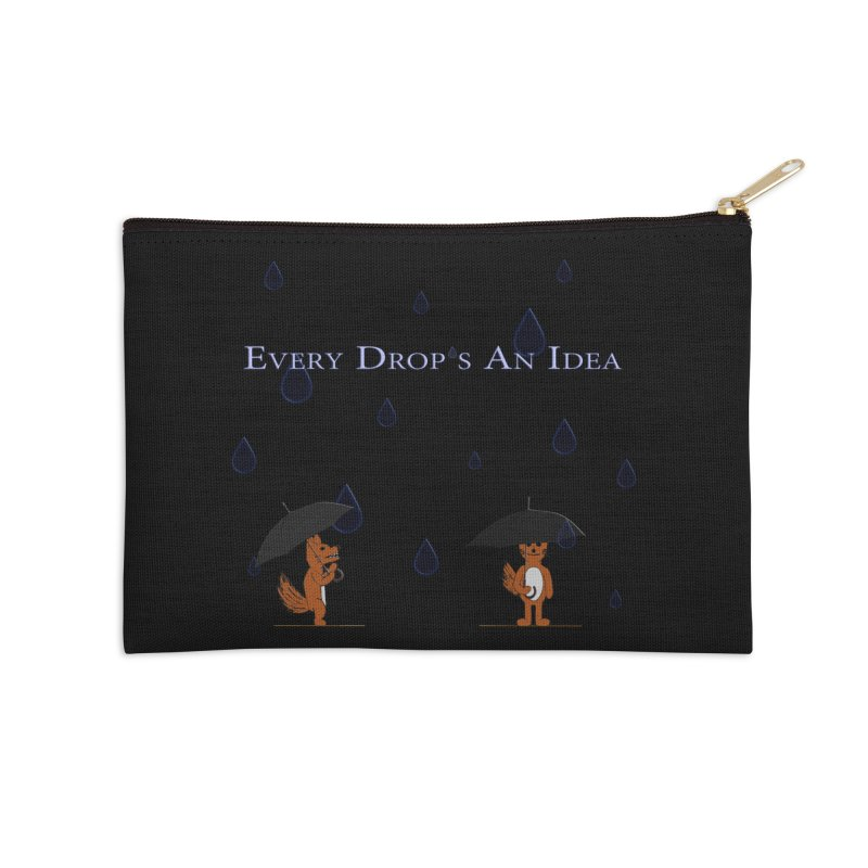 Every Drop's An Idea (Fox Edition) Accessories Zip Pouch by Every Drop's An Idea's Artist Shop