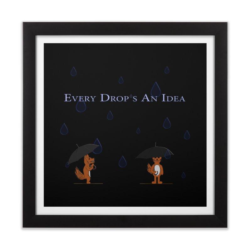 Every Drop's An Idea (Fox Edition)  Home Framed Fine Art Print by Every Drop's An Idea's Artist Shop