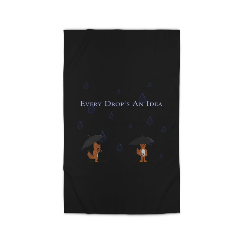 Every Drop's An Idea (Fox Edition)  Home Rug by Every Drop's An Idea's Artist Shop
