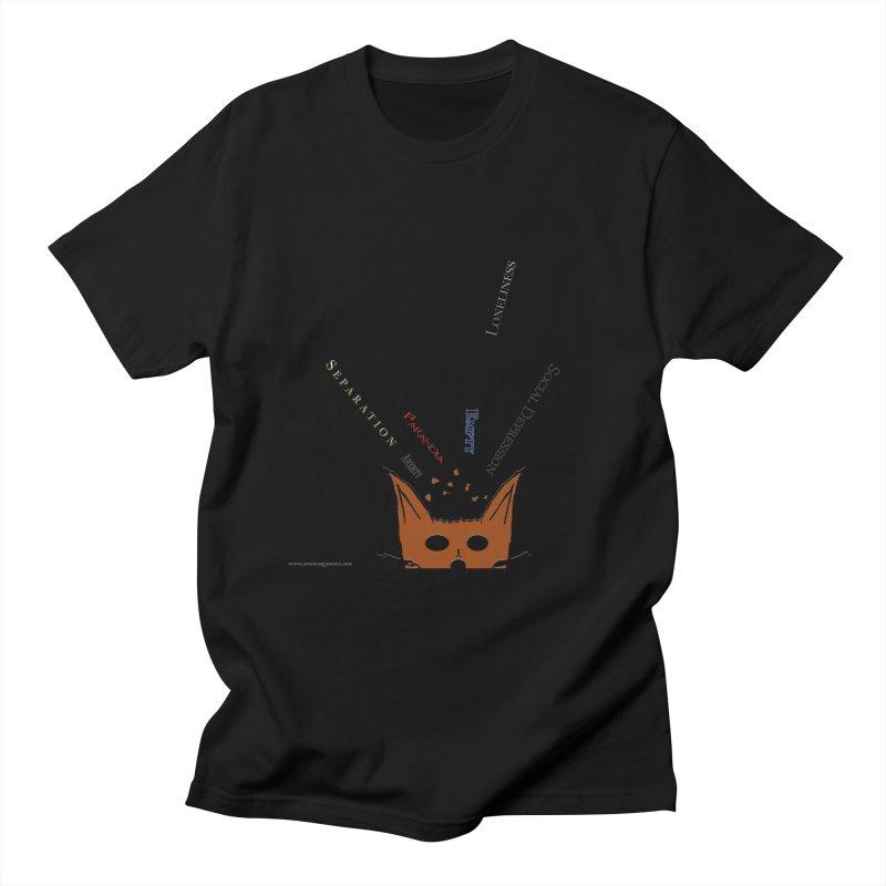Inner Feelings in Men's Regular T-Shirt Black by Every Drop's An Idea's Artist Shop