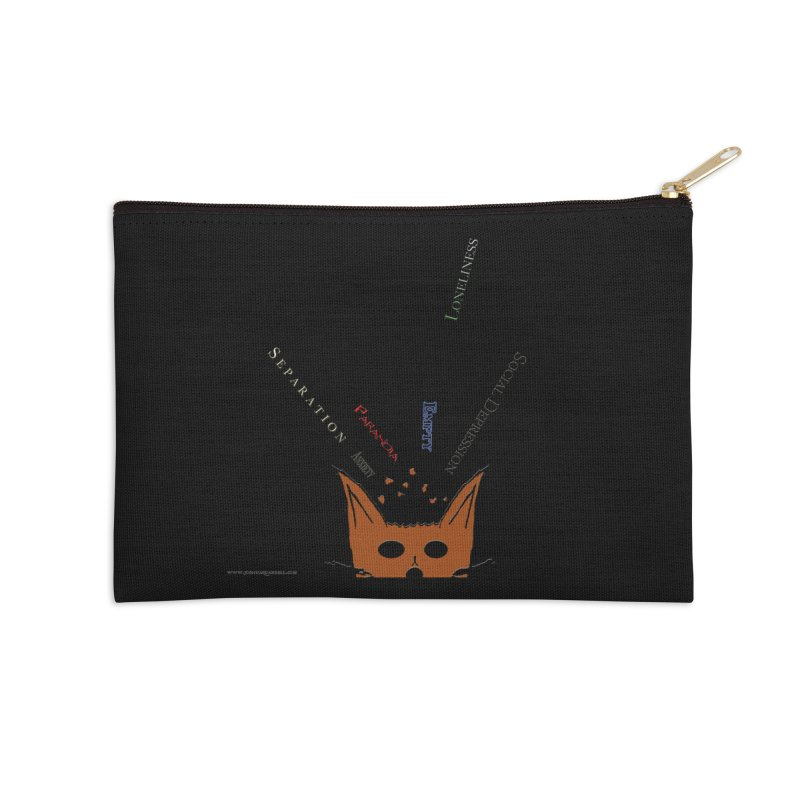 Inner Feelings Accessories Zip Pouch by Every Drop's An Idea's Artist Shop