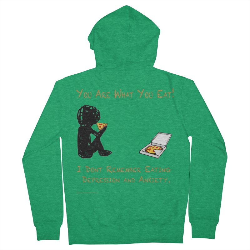 You Are What You Eat! Men's Zip-Up Hoody by Every Drop's An Idea's Artist Shop