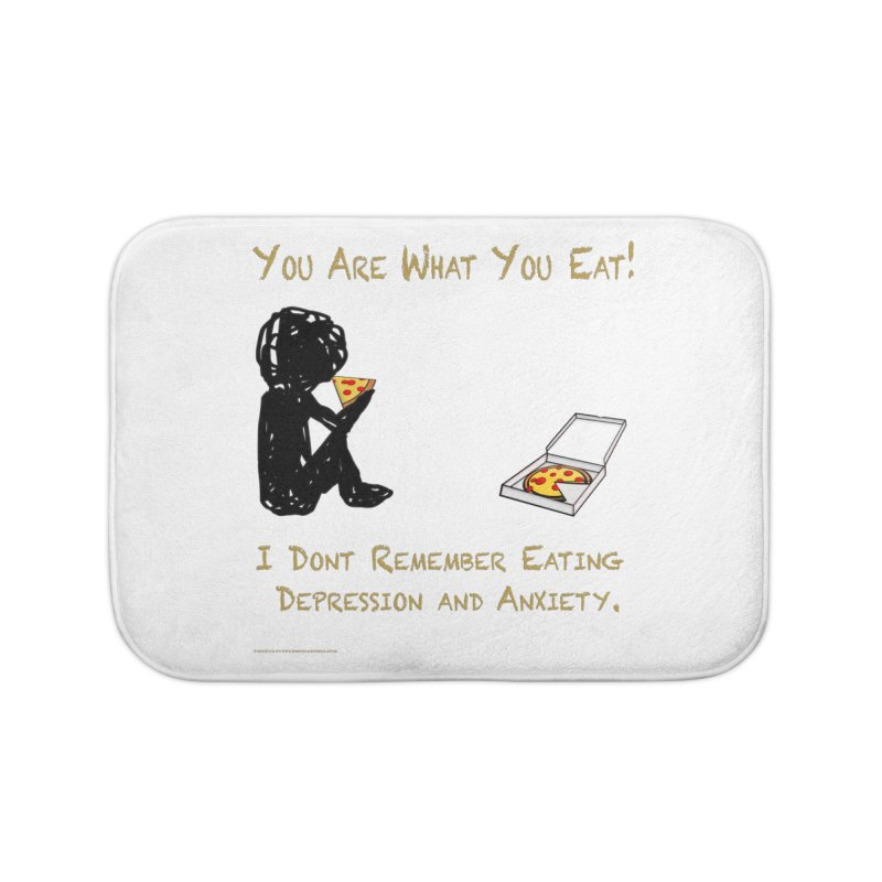 You Are What You Eat! Home Bath Mat by Every Drop's An Idea's Artist Shop