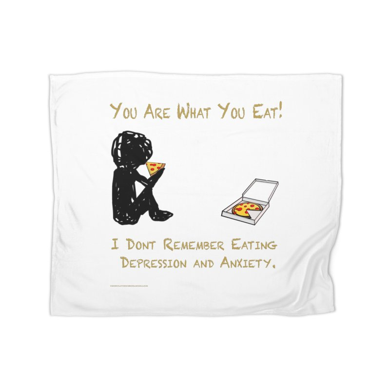 You Are What You Eat! Home and Office Blanket by Every Drop's An Idea's Artist Shop