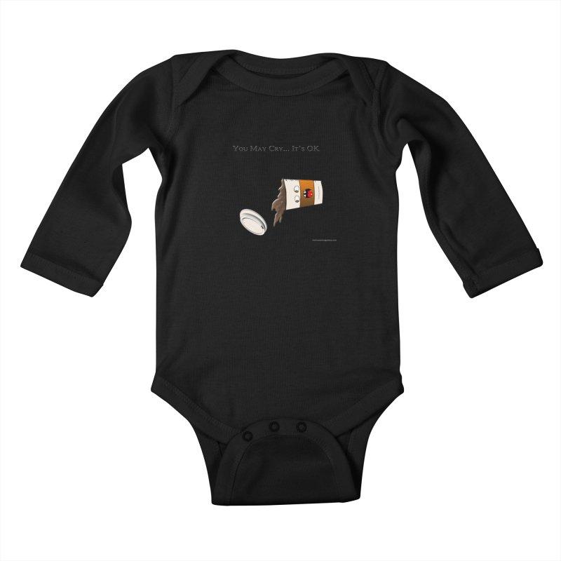 You May Cry... It's OK (Orange) Kids Baby Longsleeve Bodysuit by Every Drop's An Idea's Artist Shop