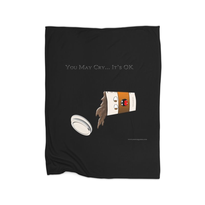 You May Cry... It's OK (Orange) Home Blanket by Every Drop's An Idea's Artist Shop