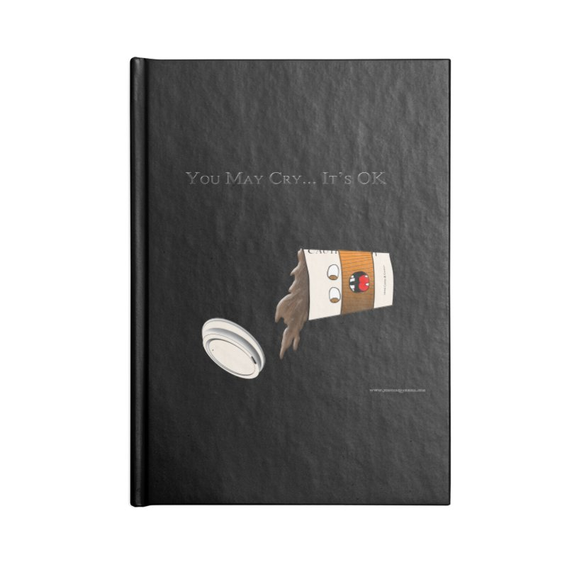 You May Cry... It's OK (Orange) Accessories Notebook by Every Drop's An Idea's Artist Shop