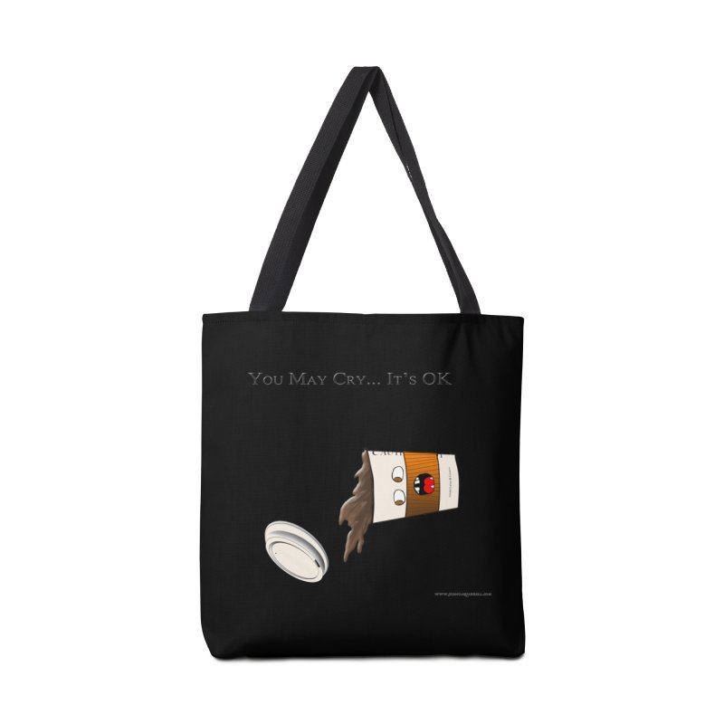 You May Cry... It's OK (Orange) Accessories Bag by Every Drop's An Idea's Artist Shop