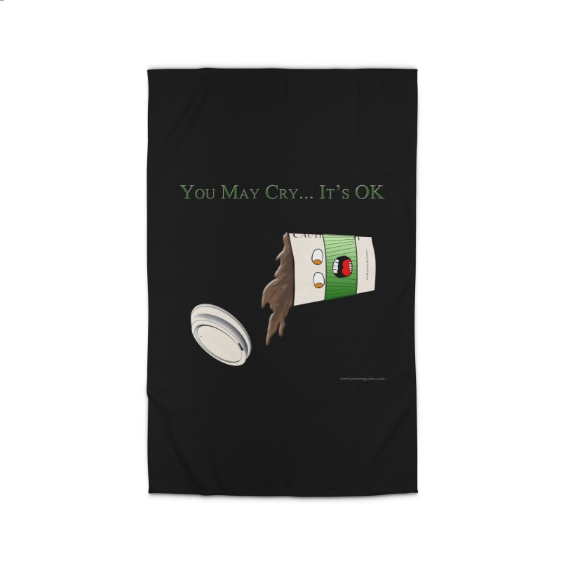You May Cry... It's OK (Green) Home Rug by Every Drop's An Idea's Artist Shop