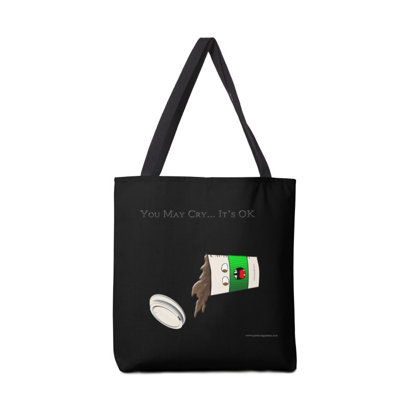 You May Cry... It's OK (Green) Accessories Bag by Every Drop's An Idea's Artist Shop