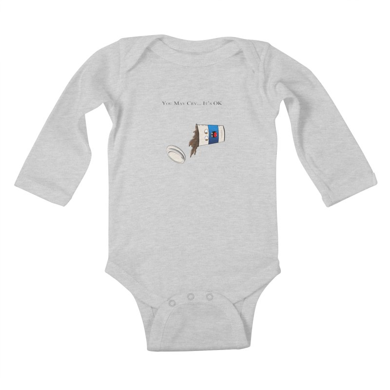 You May Cry... It's OK (Blue) Kids Baby Longsleeve Bodysuit by Every Drop's An Idea's Artist Shop