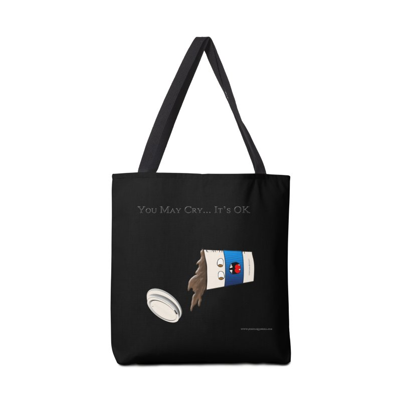 You May Cry... It's OK (Blue) Accessories Bag by Every Drop's An Idea's Artist Shop