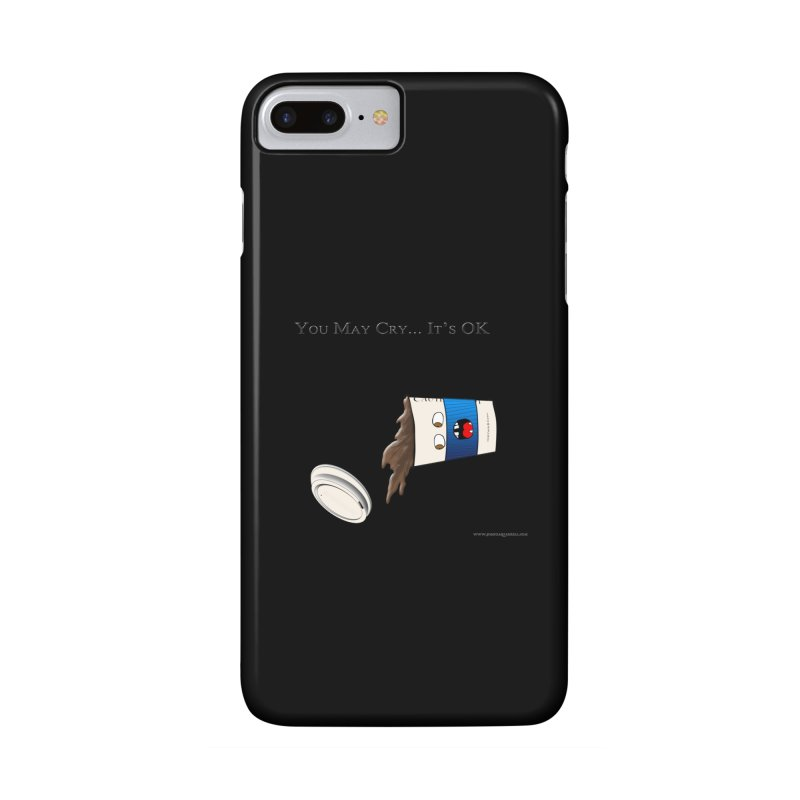 You May Cry... It's OK (Blue) Accessories Phone Case by Every Drop's An Idea's Artist Shop