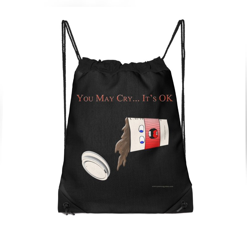 You May Cry... It's OK (Red) Accessories Bag by Every Drop's An Idea's Artist Shop