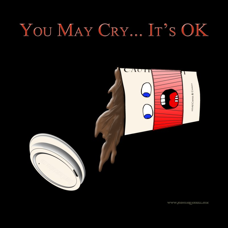 You May Cry... It's OK (Red) Men's Zip-Up Hoody by Every Drop's An Idea's Artist Shop