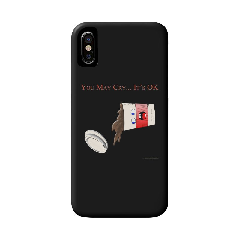 You May Cry... It's OK (Red) Accessories Phone Case by Every Drop's An Idea's Artist Shop