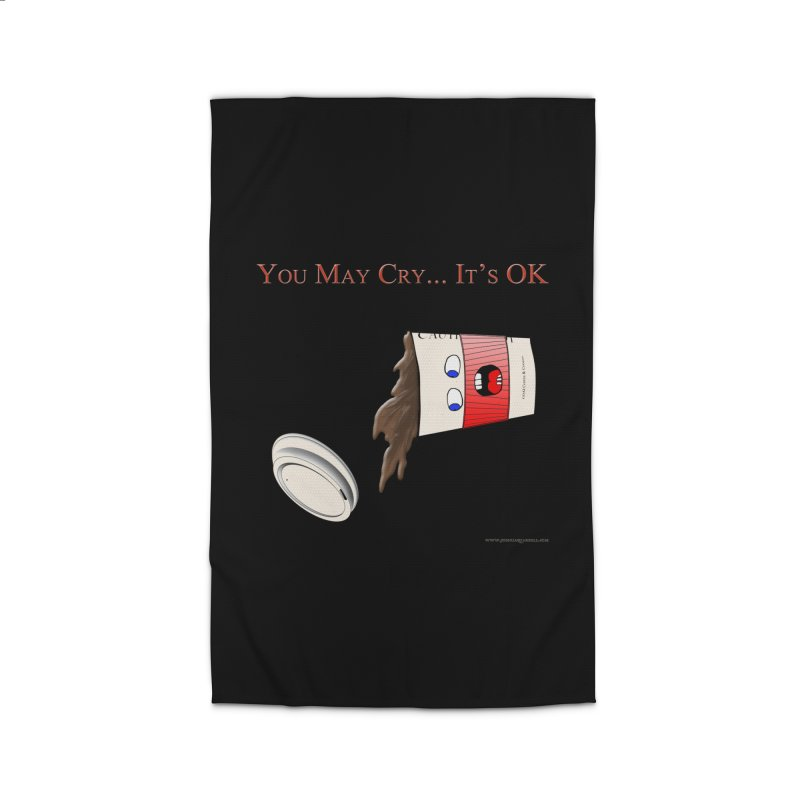You May Cry... It's OK (Red) Home Rug by Every Drop's An Idea's Artist Shop