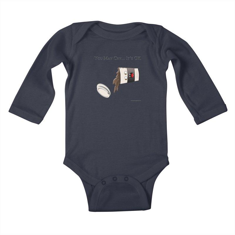 You May Cry... It's OK (Black) Kids Baby Longsleeve Bodysuit by Every Drop's An Idea's Artist Shop