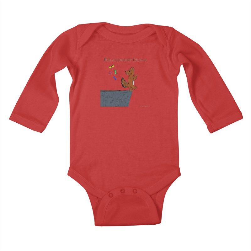 Relationship Goals Kids Baby Longsleeve Bodysuit by Every Drop's An Idea's Artist Shop