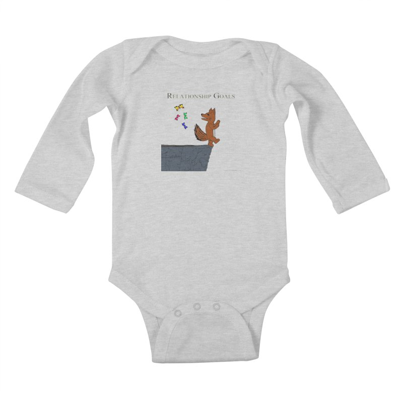 Relationship Goals Kids Baby Longsleeve Bodysuit by Every Drop's An Idea's Artist Shop