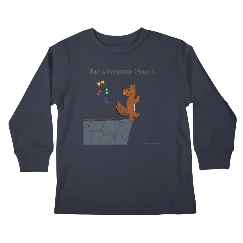 Relationship Goals Kids Longsleeve T-Shirt by Every Drop's An Idea's Artist Shop