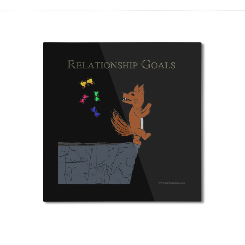Relationship Goals Home Mounted Aluminum Print by Every Drop's An Idea's Artist Shop