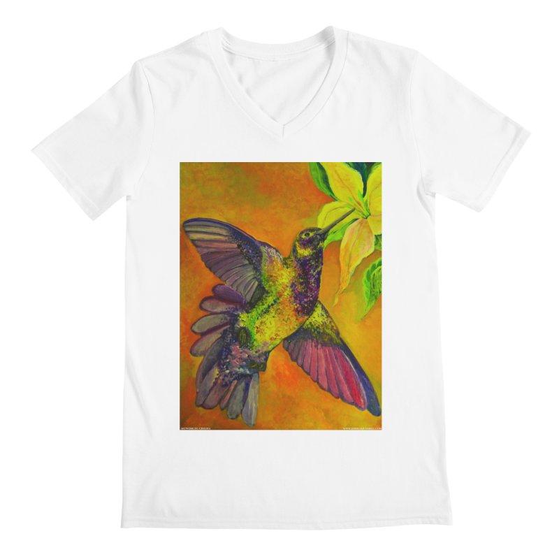 A Hummingbird's Desire Men's V-Neck by Every Drop's An Idea's Artist Shop