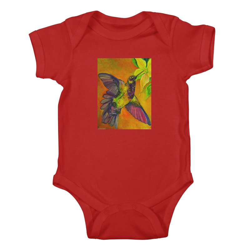 A Hummingbird's Desire Kids Baby Bodysuit by Every Drop's An Idea's Artist Shop