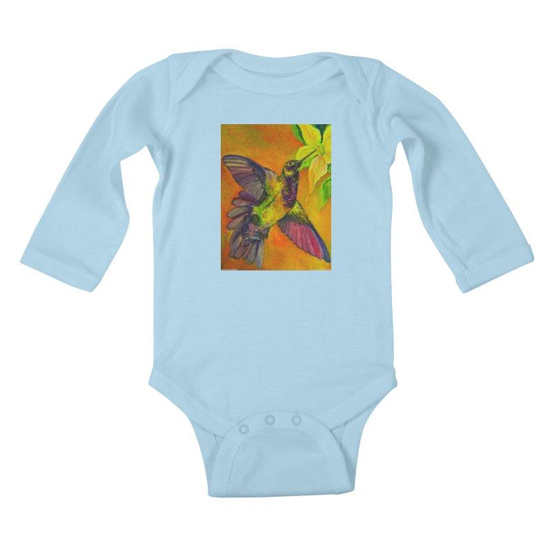 A Hummingbird's Desire Kids Baby Longsleeve Bodysuit by Every Drop's An Idea's Artist Shop