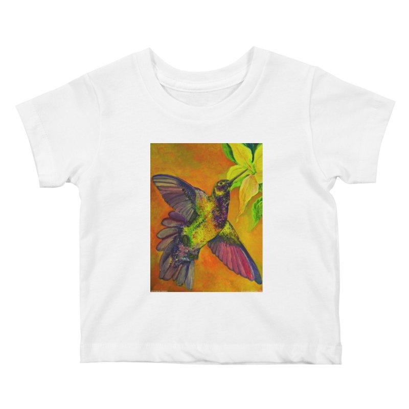 A Hummingbird's Desire Kids Baby T-Shirt by Every Drop's An Idea's Artist Shop
