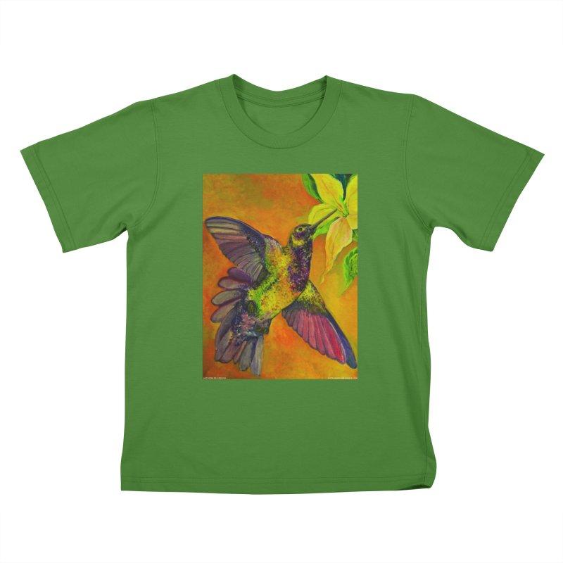 A Hummingbird's Desire Kids T-shirt by Every Drop's An Idea's Artist Shop