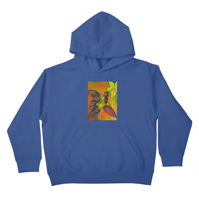 A Hummingbird's Desire Kids Pullover Hoody by Every Drop's An Idea's Artist Shop