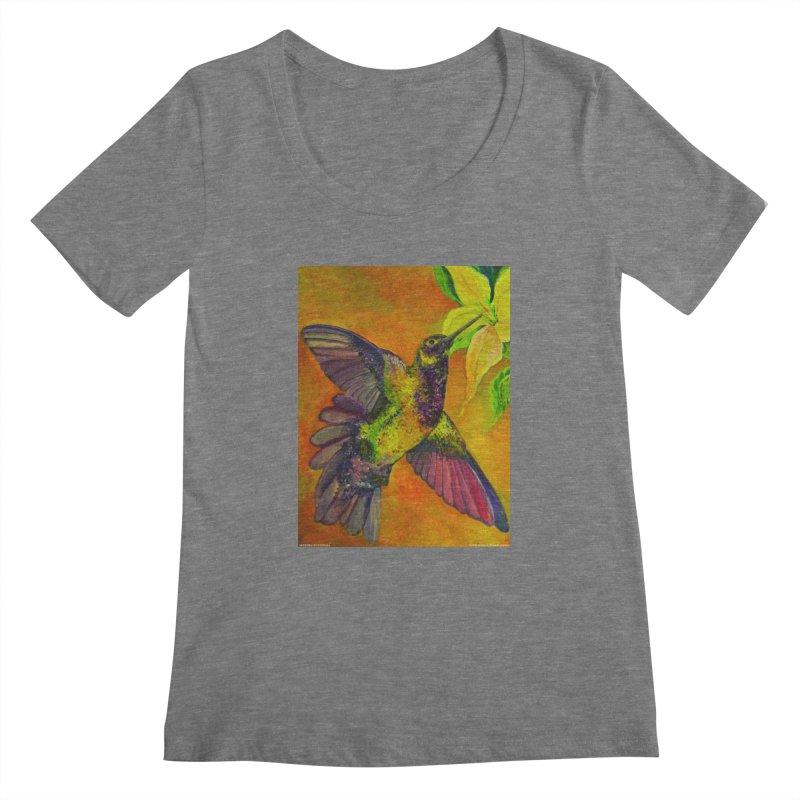 A Hummingbird's Desire Women's Scoopneck by Every Drop's An Idea's Artist Shop