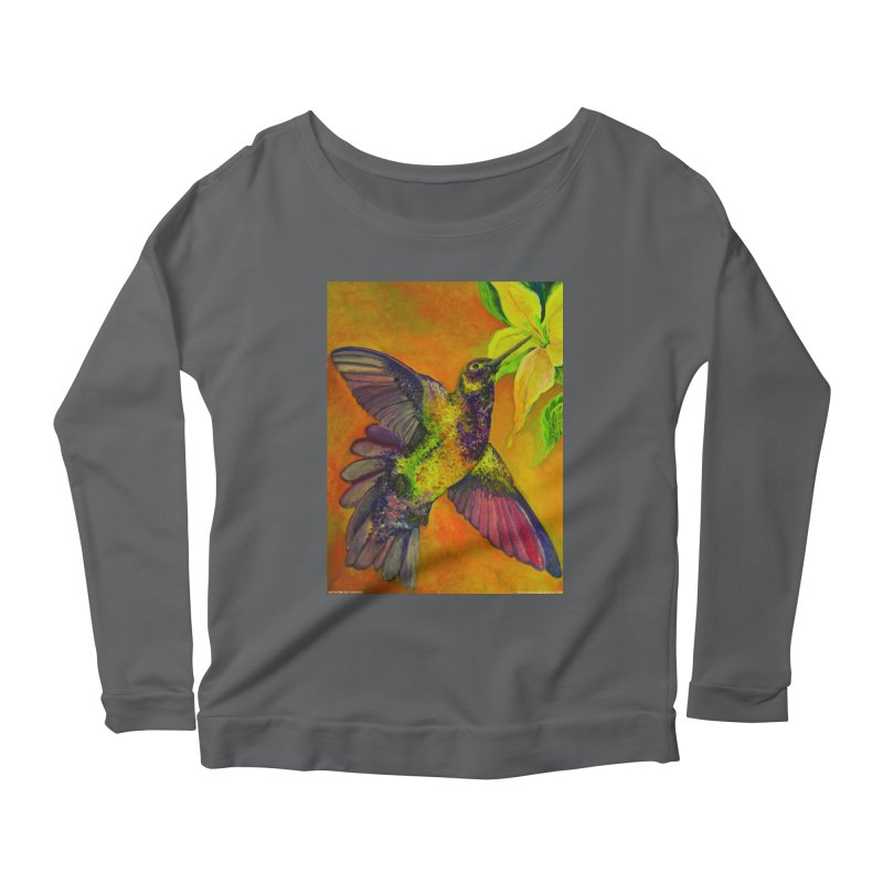 A Hummingbird's Desire Women's Longsleeve Scoopneck  by Every Drop's An Idea's Artist Shop