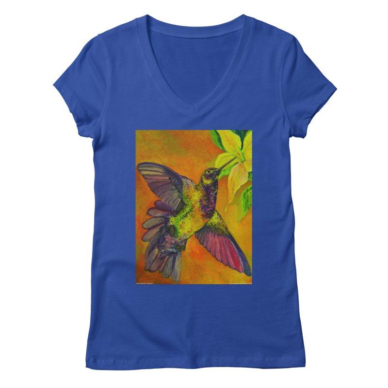 A Hummingbird's Desire Women's V-Neck by Every Drop's An Idea's Artist Shop