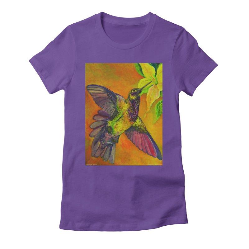 A Hummingbird's Desire Women's Fitted T-Shirt by Every Drop's An Idea's Artist Shop