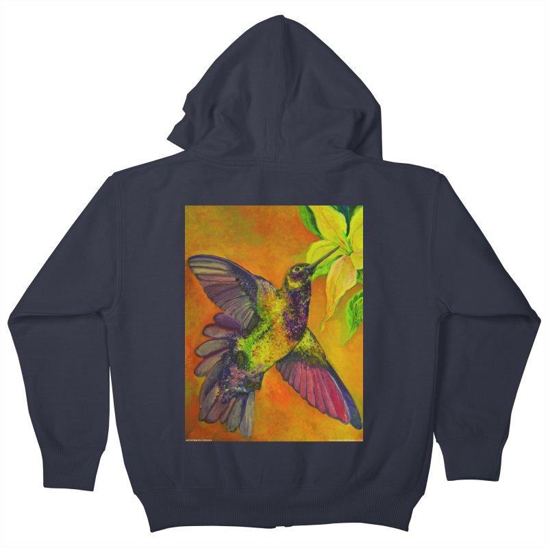 A Hummingbird's Desire Kids Zip-Up Hoody by Every Drop's An Idea's Artist Shop